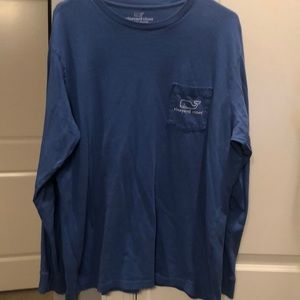 Large LS Men's blue Vineyard Vibes Tee